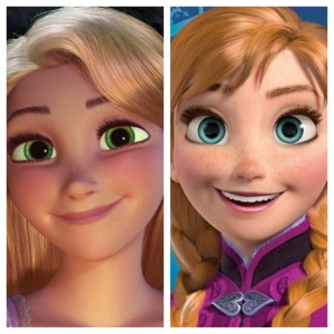Rapunzel and Anna